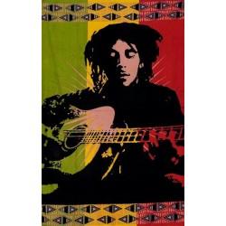 Tenture Rasta Bob Marley guitare