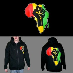 Sweat Rasta zippé Black Power