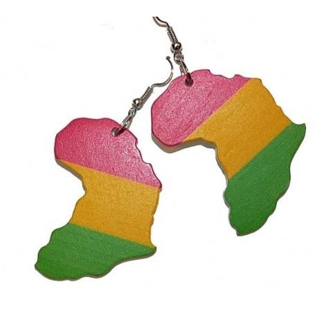 Boucles d'oreilles Rasta Afrique