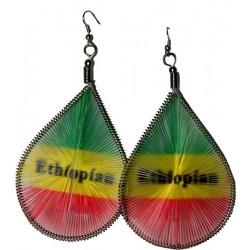 Boucles d'oreilles Rasta Ethiopie