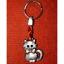 Porte-clés chat aux yeux bleus