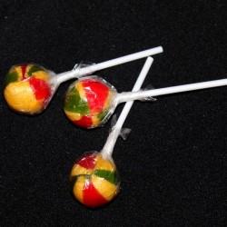 Sucettes lollipops Couleurs Rasta