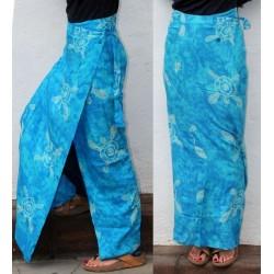 Paréo-jupe turquoise