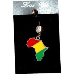 Piercing nombril en carte d'Afrique