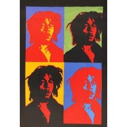 Tenture Bob Marley effet Warhol