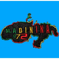 Patch Rasta 972 MADININA MARTINIQUE