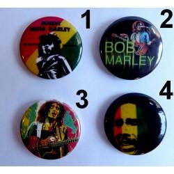 Choix de 4 badges Bob Marley