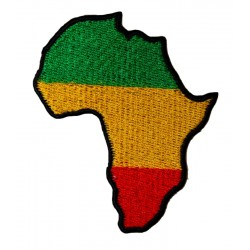 Patch Rasta carte d'Afrique