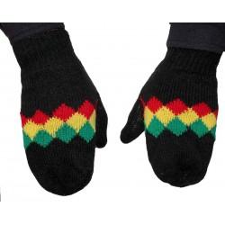 Moufles gants Rasta