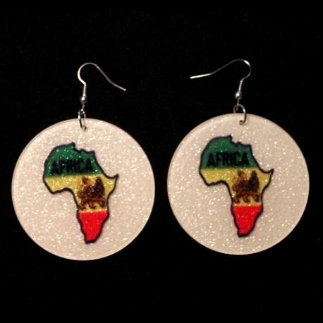 Boucles oreilles Africa Lion de Judah