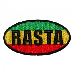 Patch Rasta ovale