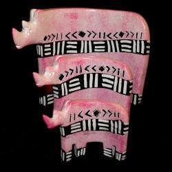 Rhinocéros en saponite