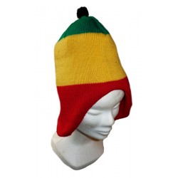 Bonnet cache-oreilles pompon