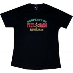 T shirt enfant Teuf Gang noir