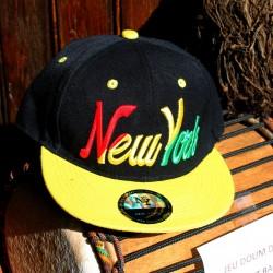 Casquette New York noire et jaune