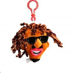 Porte-clés tête poupée rasta