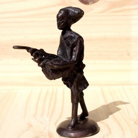 Musicien Dogon bronze ancien