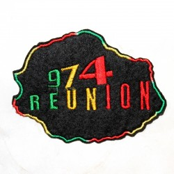 Patch Rasta 974 La Réunion