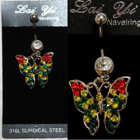 Piercing nombril en papillon