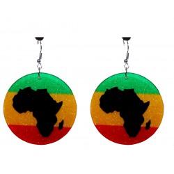 Boucles d' oreilles rasta Afrique