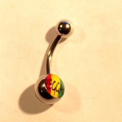 Piercing courbé Reggae