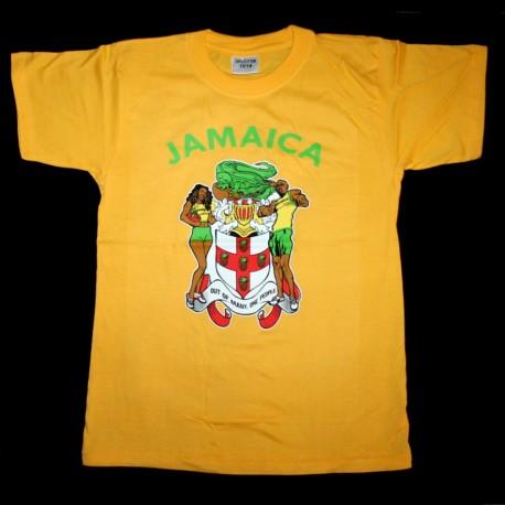 T-shirt coton jaune Jamaica