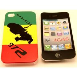 Coque Rasta Martinique pour Iphone 4G 4S