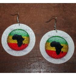 Boucles d' oreilles Afrique Rasta