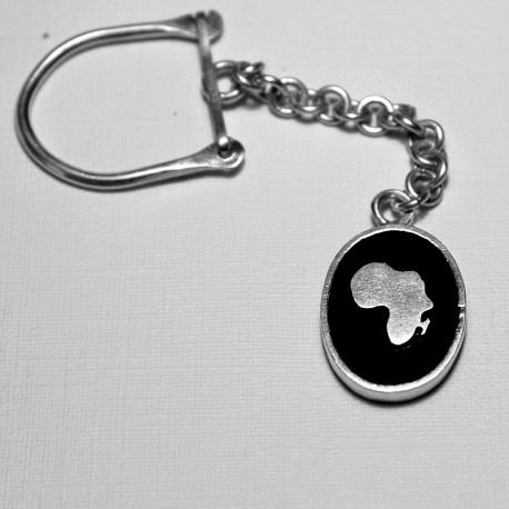 Porte-clés argent Africa Ethiopie