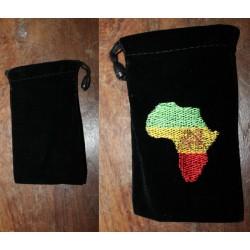 Pochette velours ras Africa