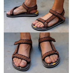 Sandales fermeture velcro