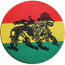 Patch Rasta rond Lion de Judah