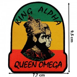 Beau patch King Alpha Queen Oméga