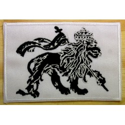 Patch Lion of Judah noir et blanc