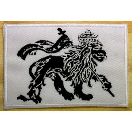 Patch Lion of Judah noir et blanc