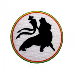Patch Rasta rond Lion de Judah