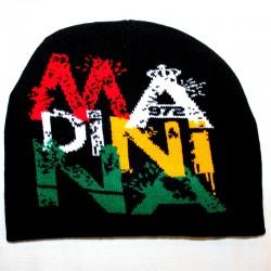 Bonnet noir Rasta Martinique