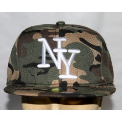 Casquette camouflage New York
