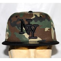 Casquette camouflage New York en noir
