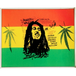 Autocollant Bob Marley drapeau Rasta