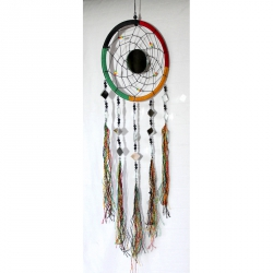 Dream catcher attrape rêves vert jaune rouge