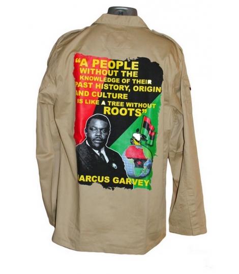 Chemise veste coton Marcus Garvey