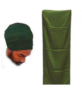 Véritable turban Touareg vert ou turban Rasta