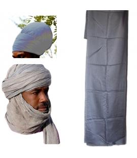 Turban Touareg gris ou turban Rasta