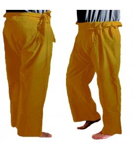 Pantalon style Thaï moutarde