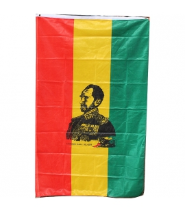 Grand drapeau Haile Selassie I