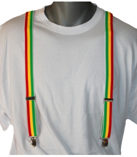 Bretelles couleurs rasta
