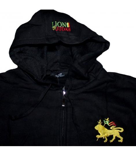 Veste sweat zippé Lion de Juda