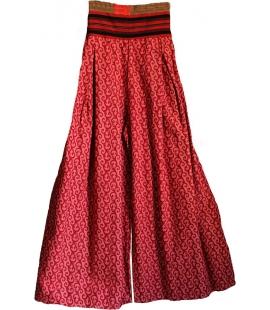 Pantalon coton rose