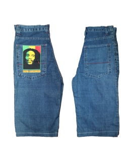 Bermuda denim Bob Marley